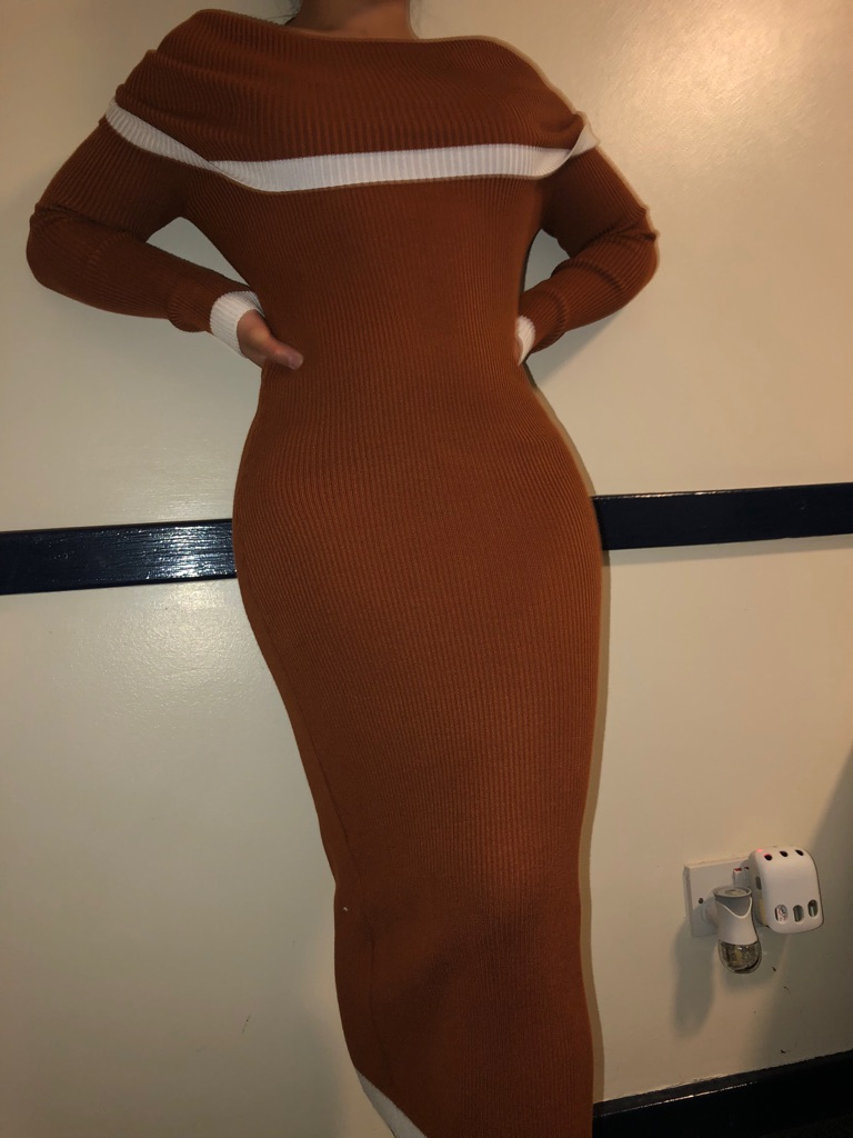 Sorelle UK Off-the Shoulder Bodycon dress