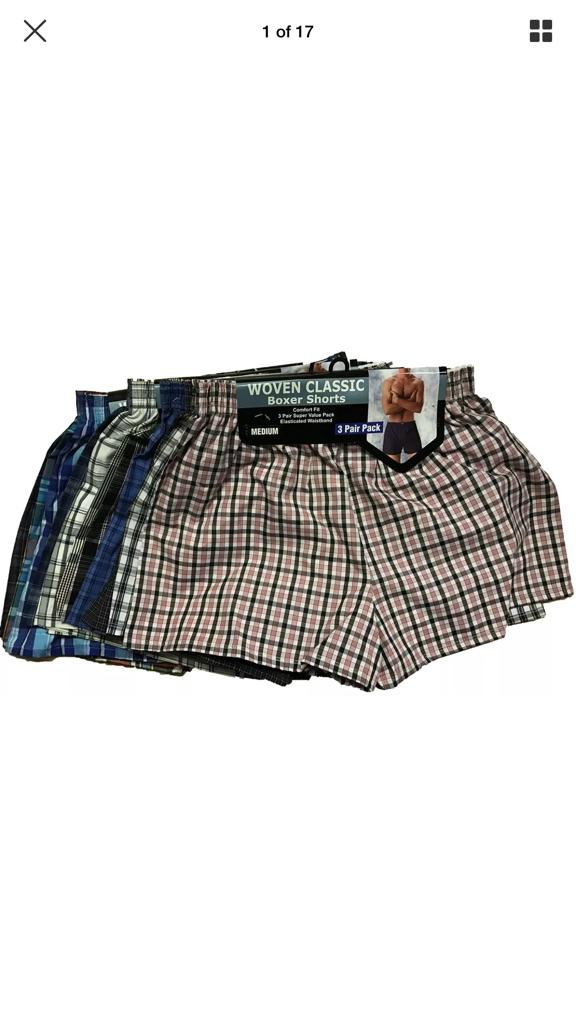 Men's Classic Woven Polyester Cotton Boxer Shorts