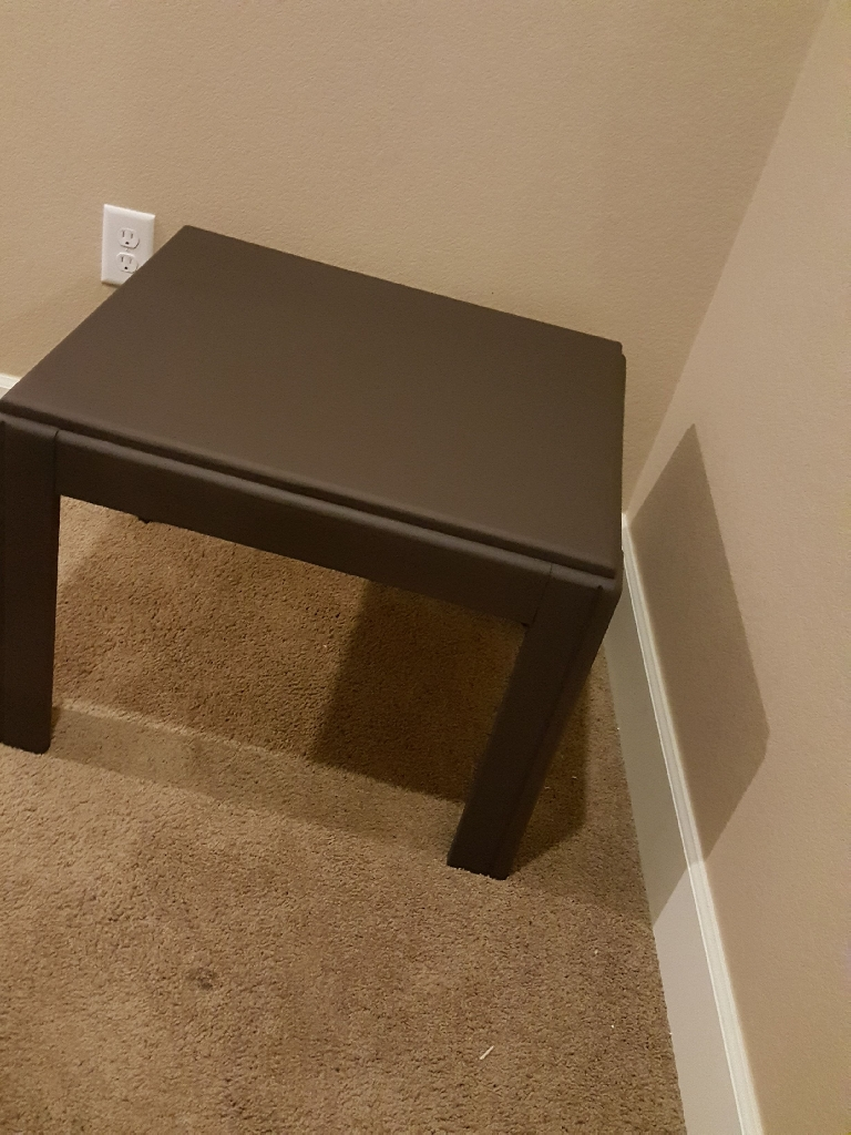 Burnt Brown Side Table/TV Stand