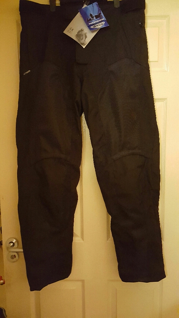 Weise Black Motorcycle Trousers