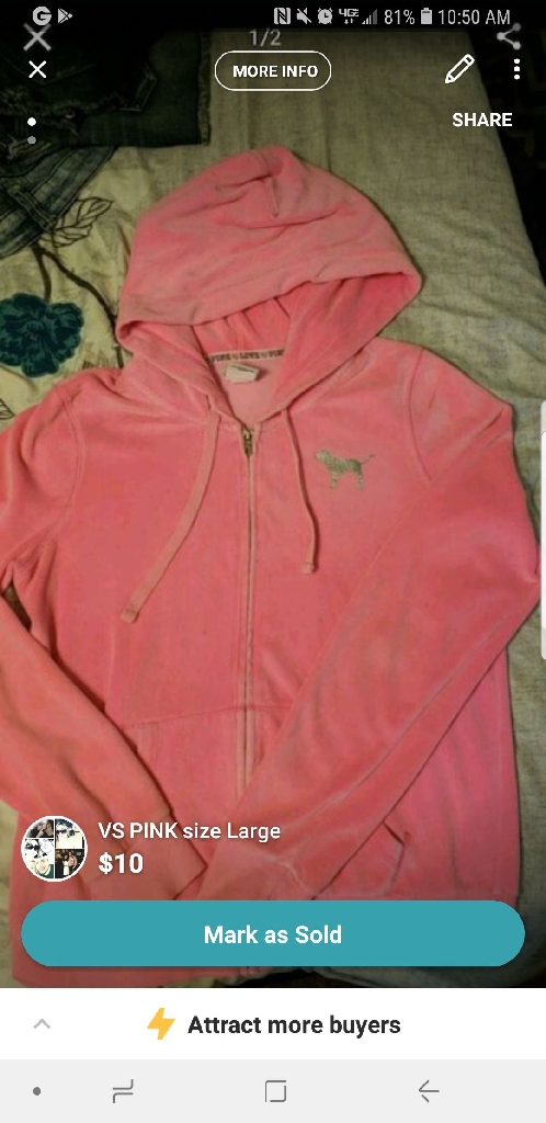 VS PINK SIZE LARGE
