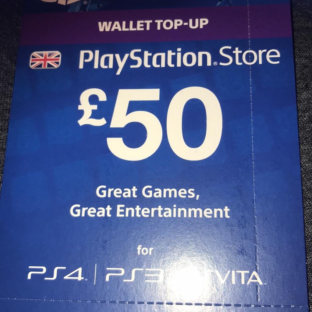 50 pound PlayStation store voucher