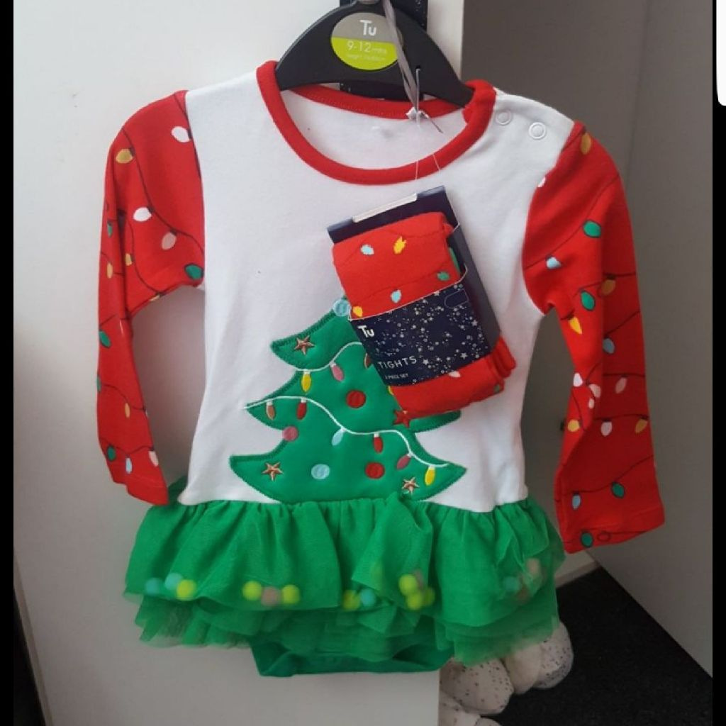 Christmas dress with tights