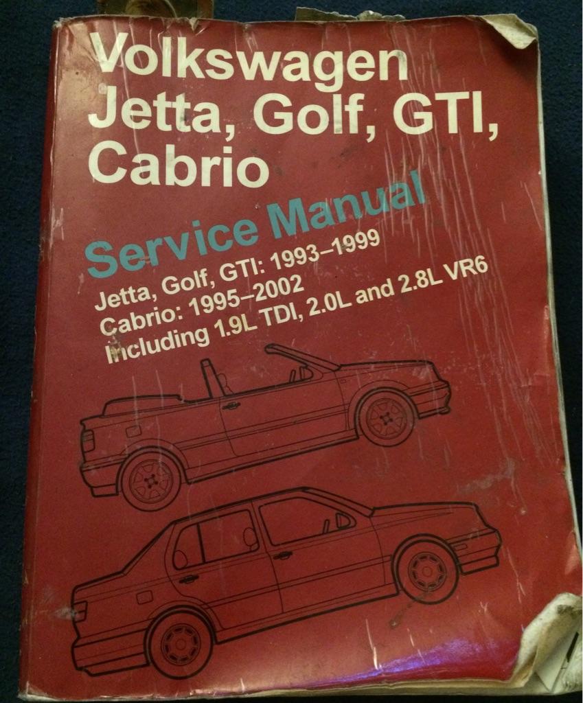 Volkswagen Jetta, Golf, GTI, Cabrio Service Manual