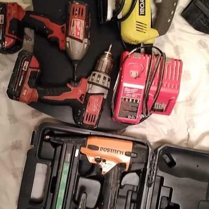 Milwaukee, Ryobi & Bostich Tools