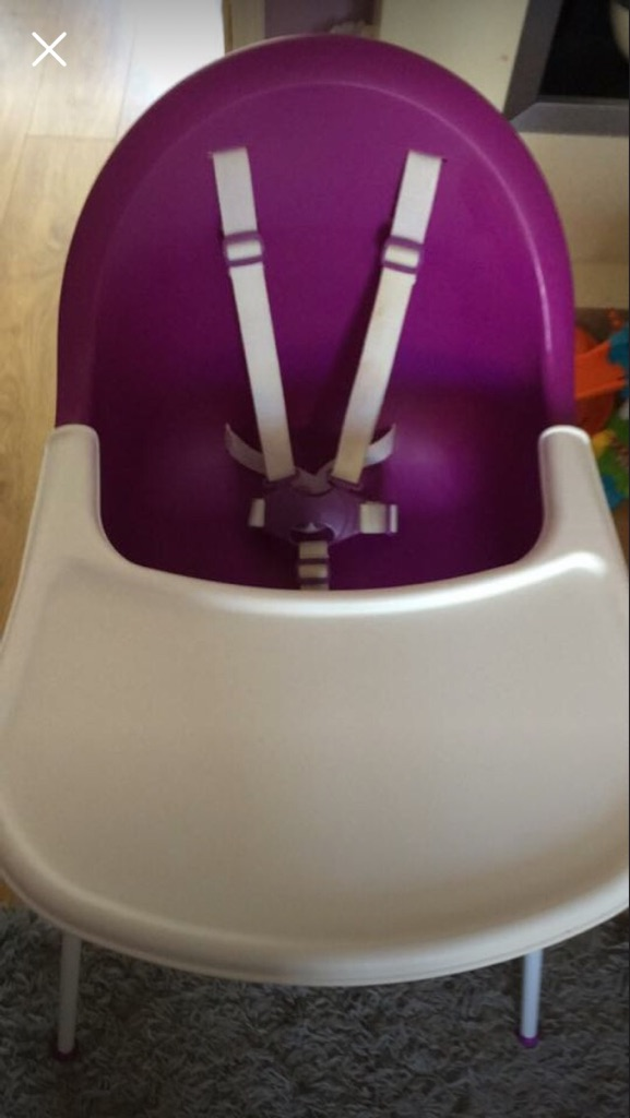 Mothercare high chair purple