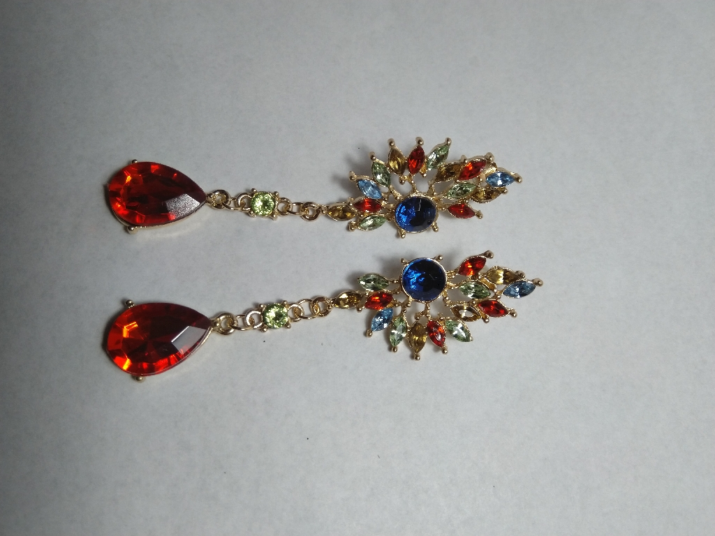 Colourful stones earrings