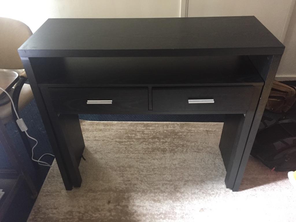 Black extendable John Lewis console table