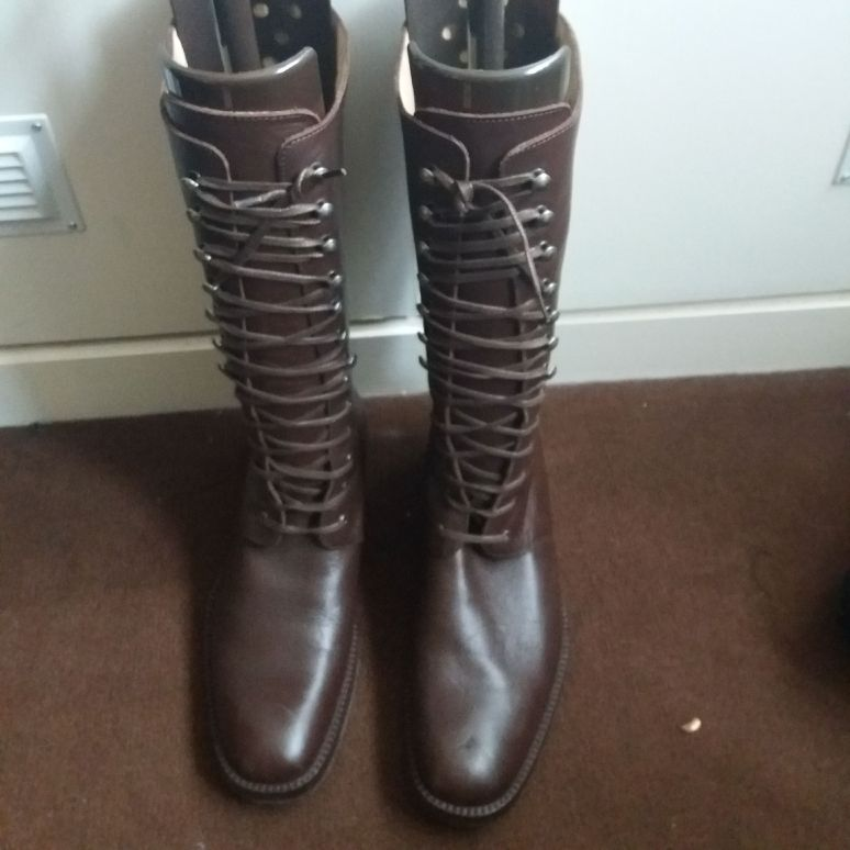 French connection Brown leather boots