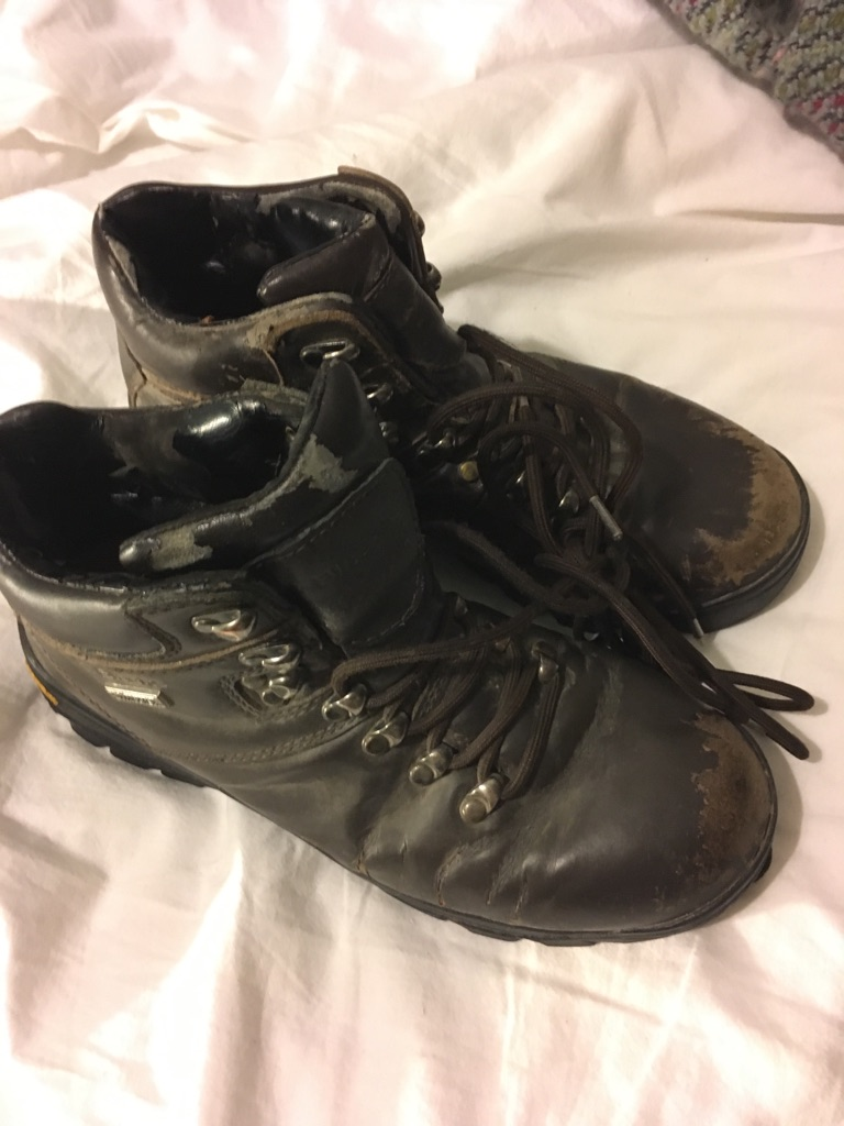 Leather Walking Boots Size 6