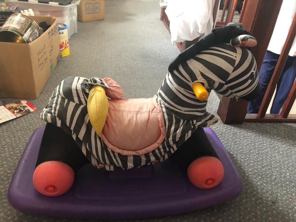 Ride-on Zebra Toy