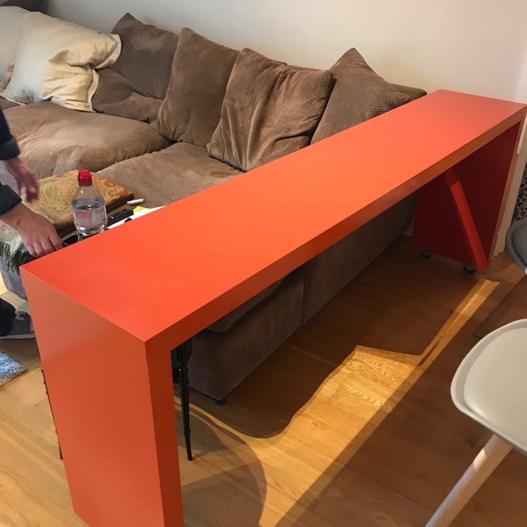 Ikea orange console table