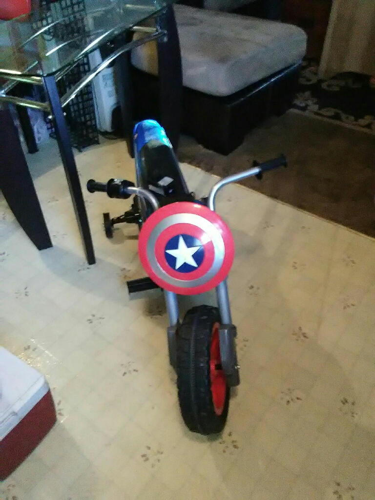 Captain America motorcycle power wheels