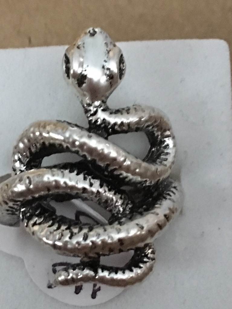 Silver plated snack ring