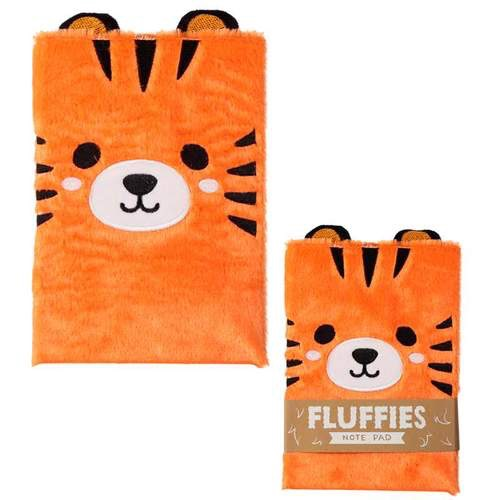 Fluffy plush notebook- cute tiger design
