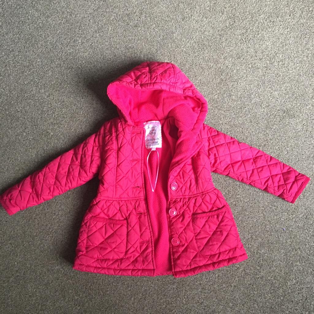 Girls padded coat aged 5
