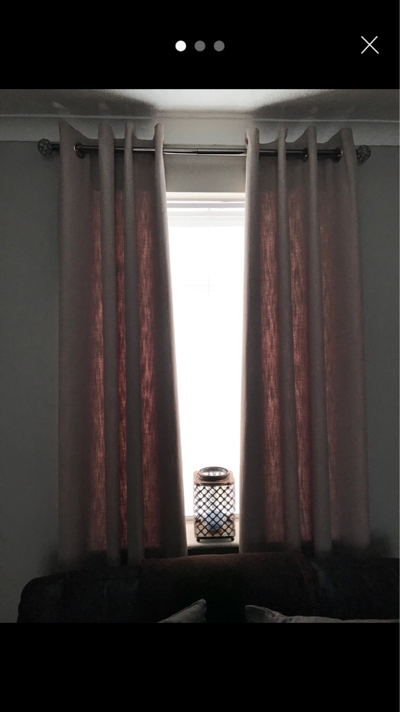 2 pair of Next boucle curtains 46x90