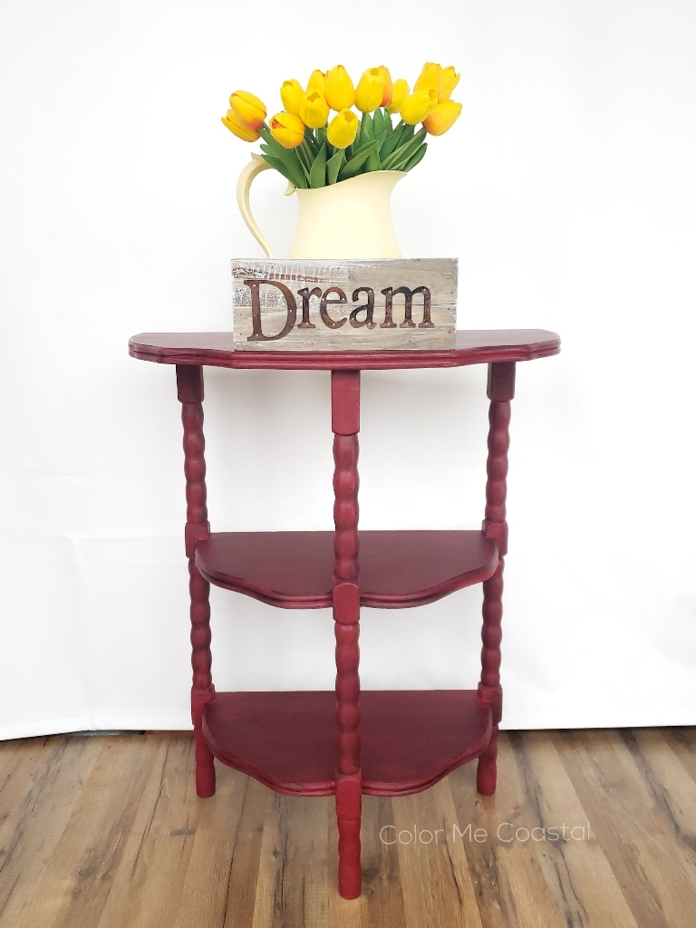 Cranberry red vintage table