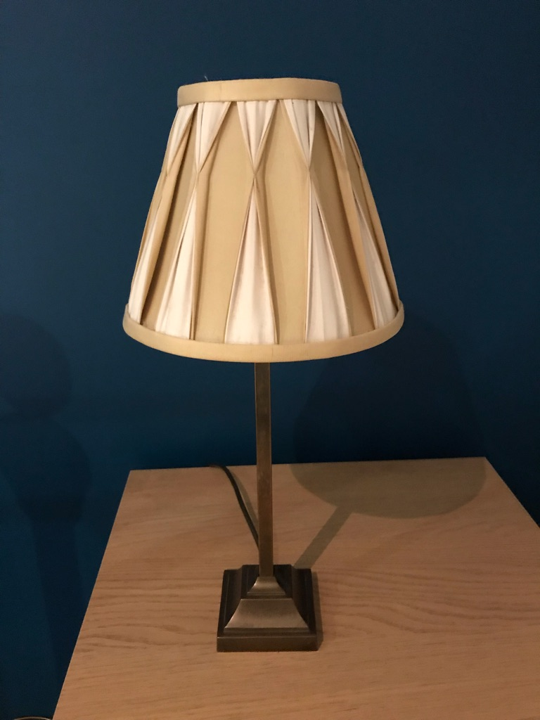 Pair of Laura Ashley Brass Effect Lamps with Silk Shades