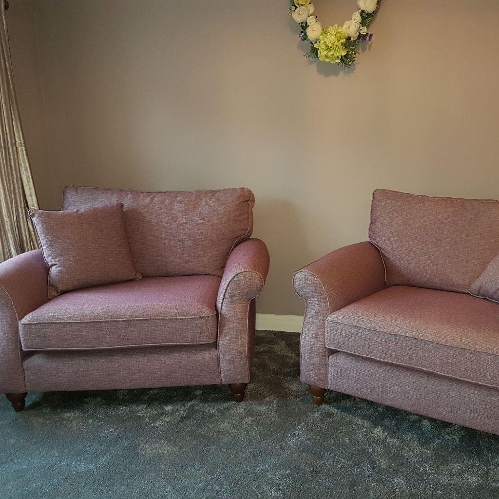 Two Next cuddle chairs