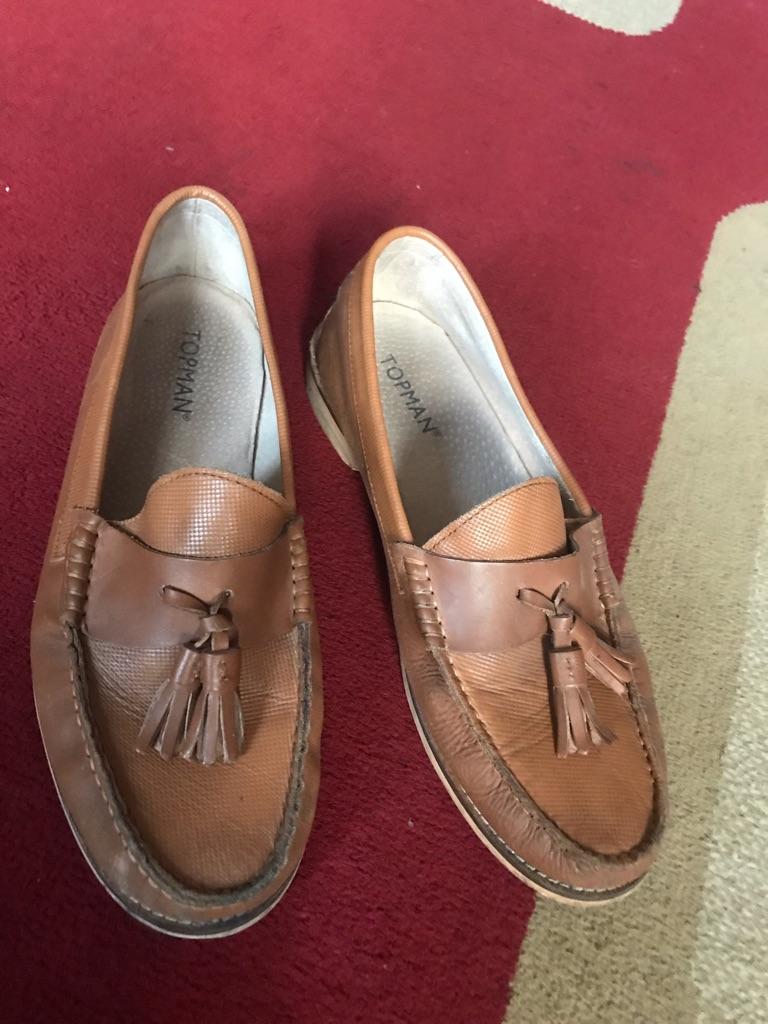 Men's leather shoes size 8