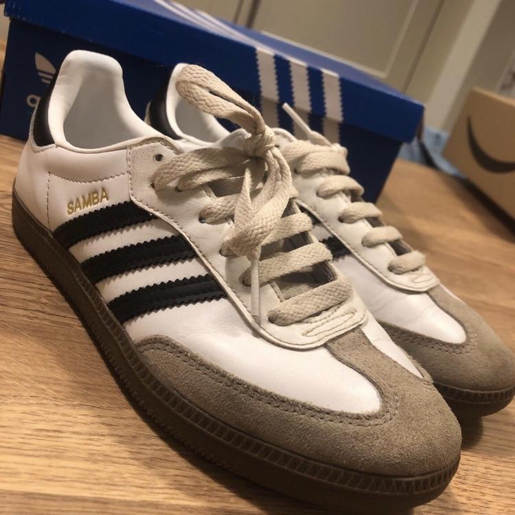 Adidas Samba white and black