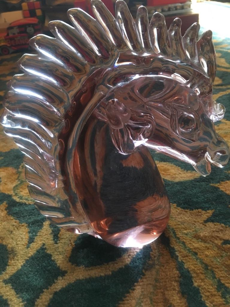 Vintage murano Roman horse