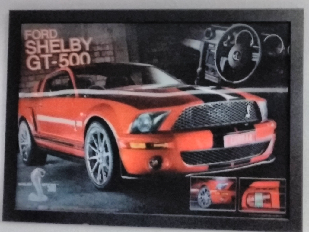 Set of 2 Shelby GT 500,  3D pictures in black frames (check both)