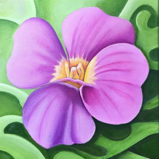 Acrylic painting on canvas 20cm x 20cm