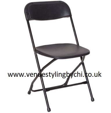Folding chairs & tables and covers hire