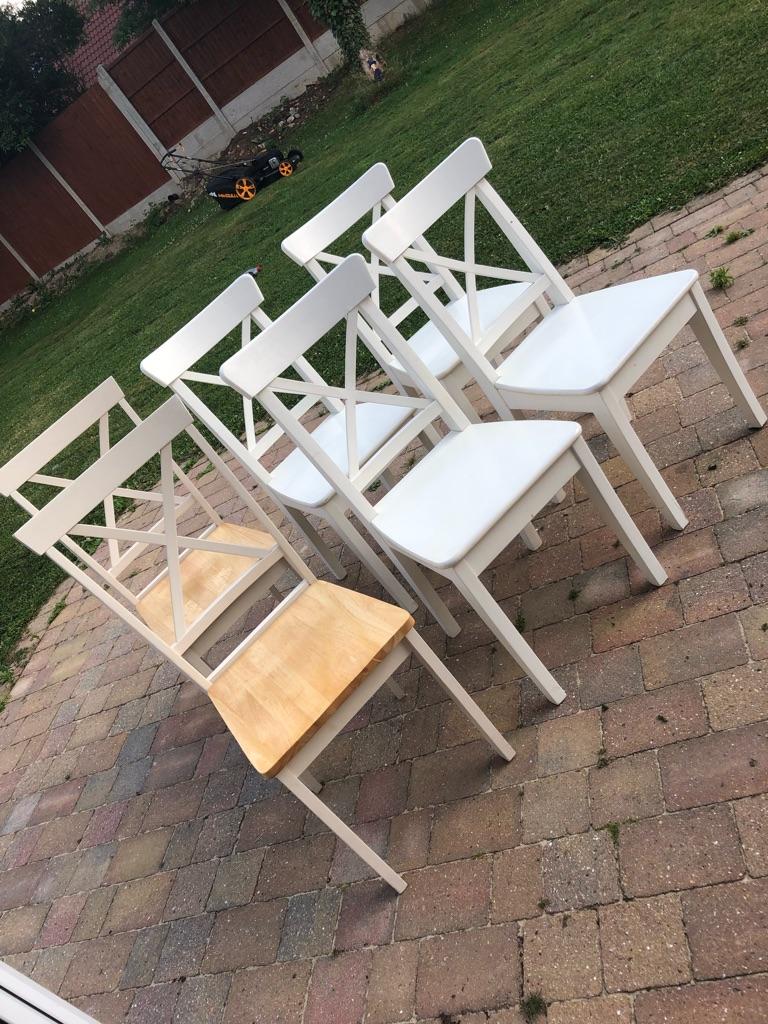 White Ikea Chairs