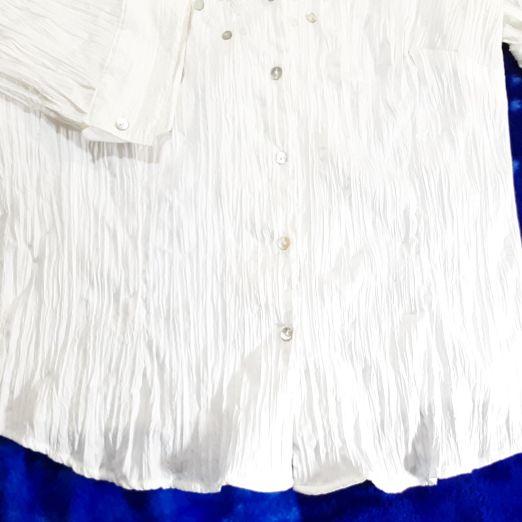 Ladies Plus Size 3X Ashley Steward white Spring Blouse. Will ship.