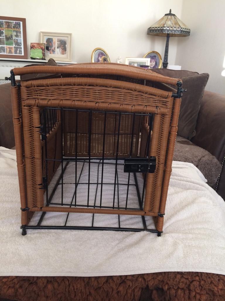 Cat/dog cage weave basket