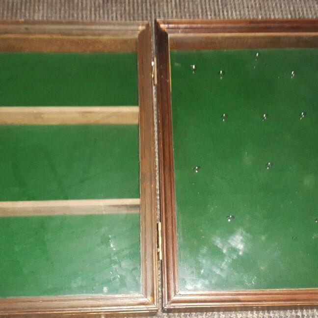 2 x vintage display boxes