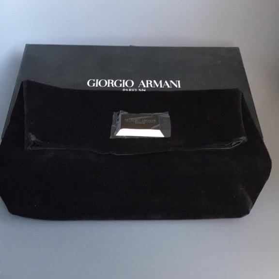 Giorgio Armani velvet 'going out' bag (brand new)