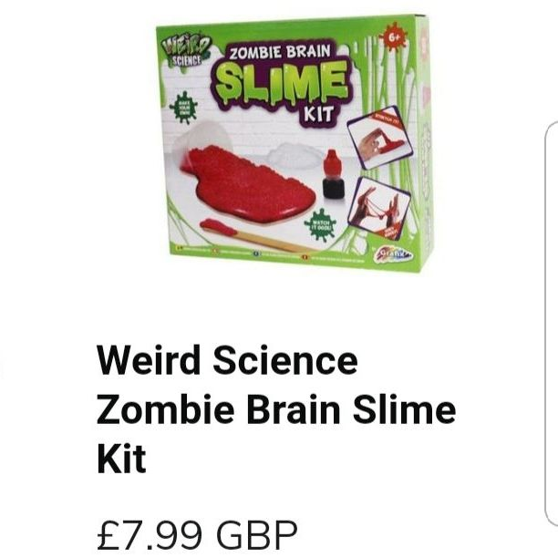 Weird science zombie brain slime kit