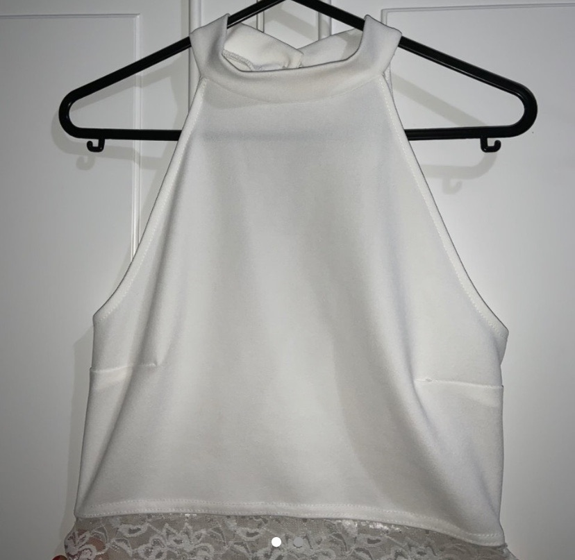 White crop Lacey top