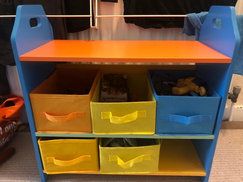 Kids toy storage, missing a drawer