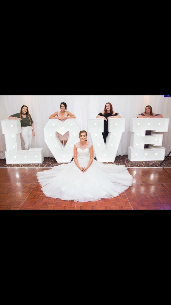 """*FOR HIRE* Giant light up """"LOVE"""" letters"""