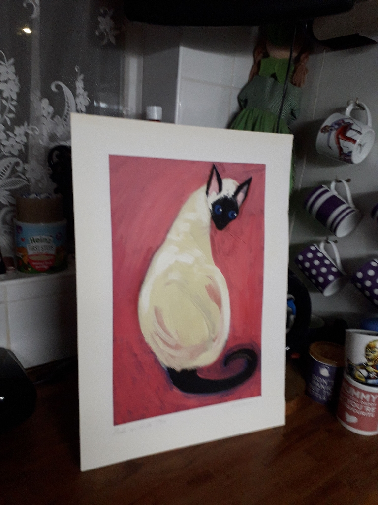 RARE posh on pink artist (cats) signed