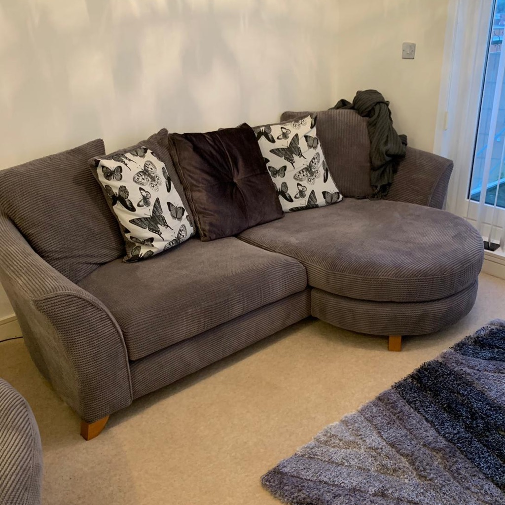 LShape DFS grey sofa