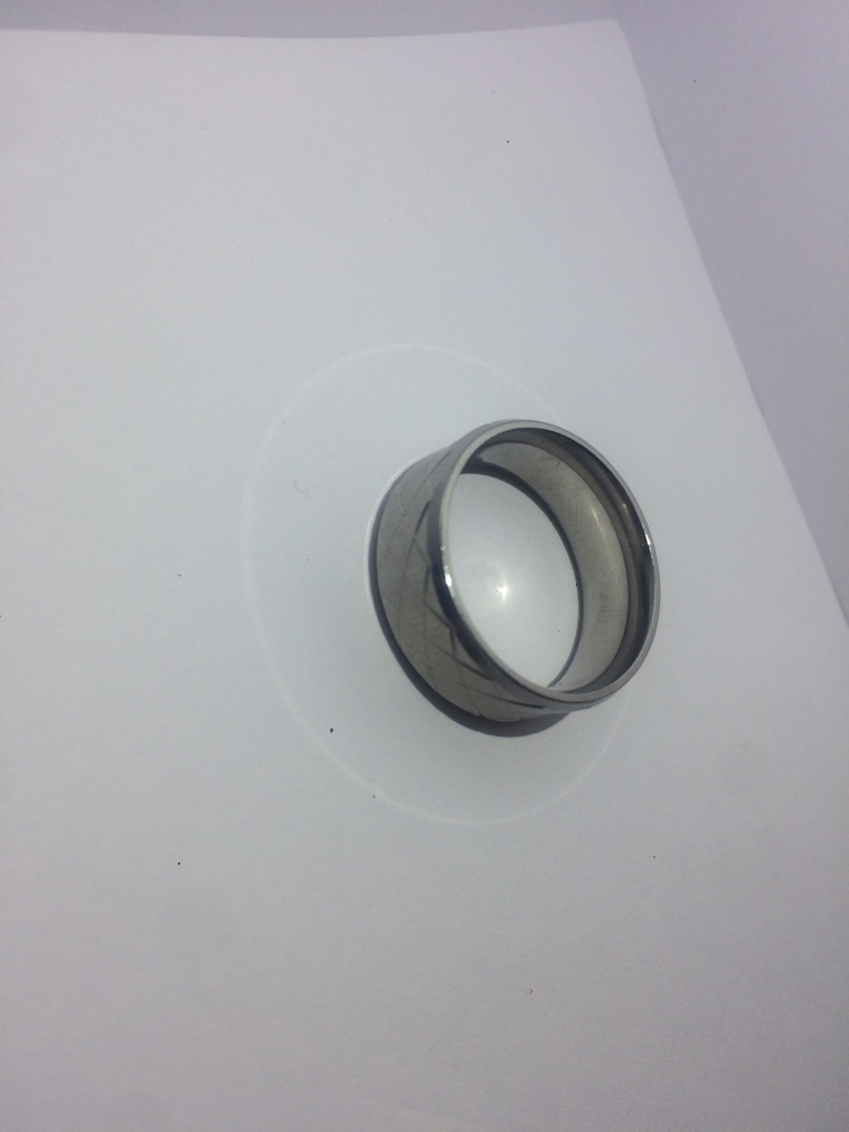 Criss Cross Engraved Design Male Ring