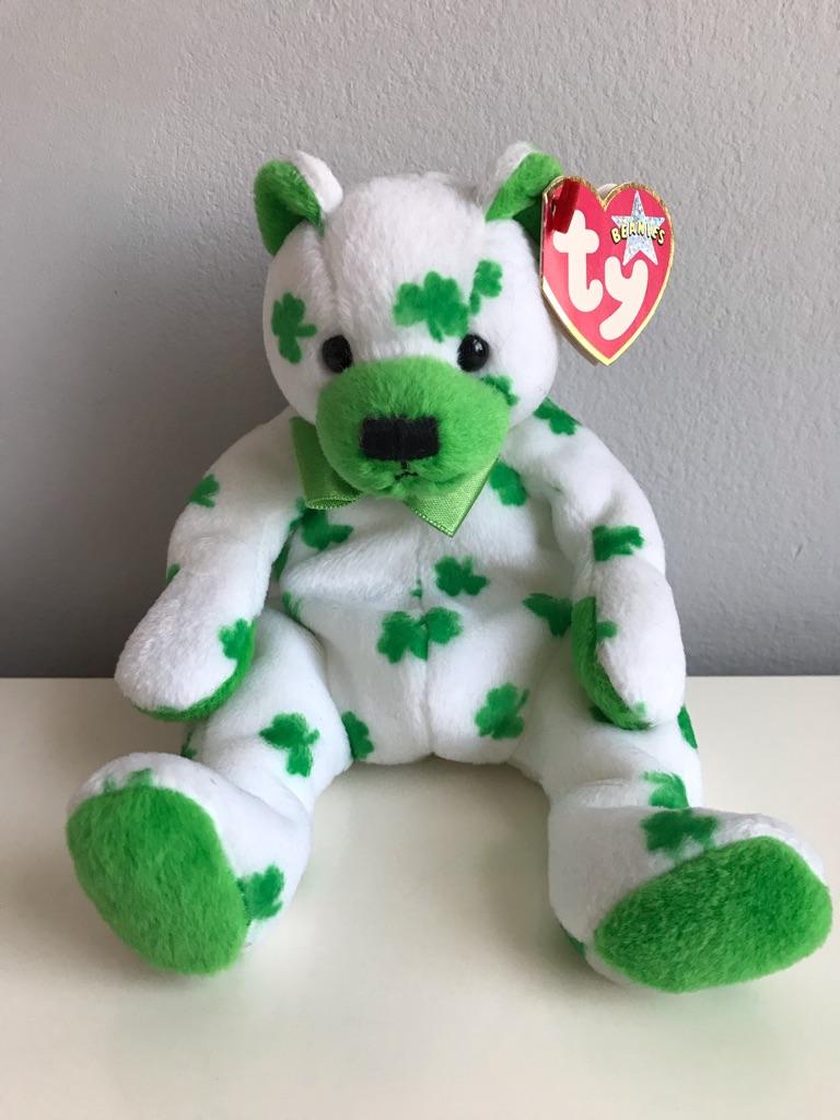 TY Beanie Bear - Clover