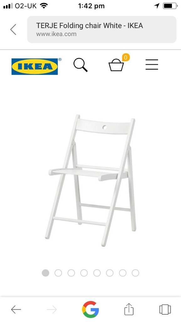 Two folding ikea dining chairs