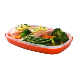 Microwave steaming case