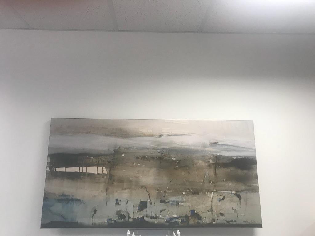 "Betina Levin - la outa orilla 30"" x 54"" canvas mounted on wood."