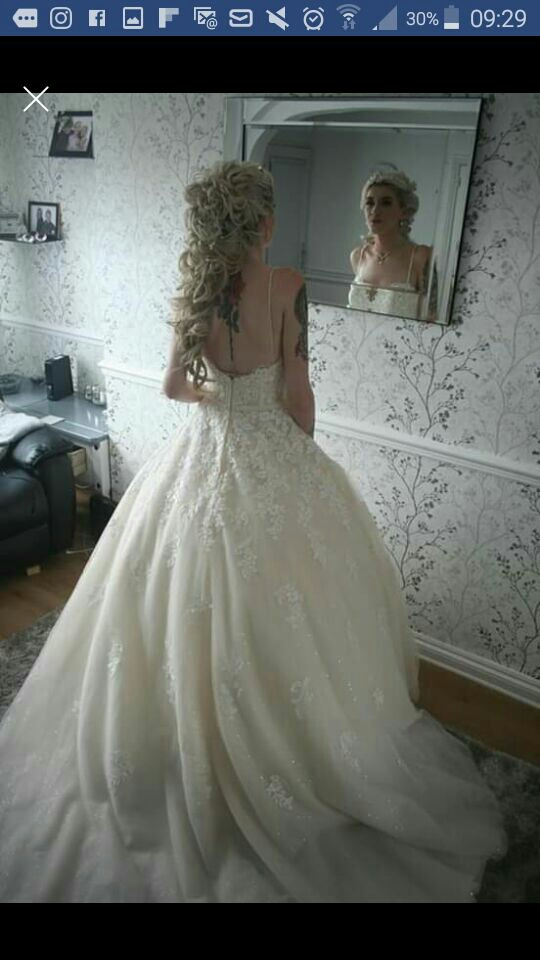 One off wedding dresd
