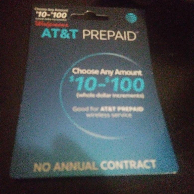 AT&T prepaid card