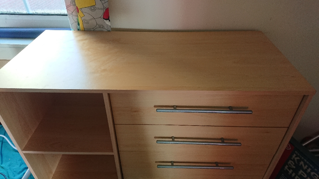 Chest of drawers with storage space