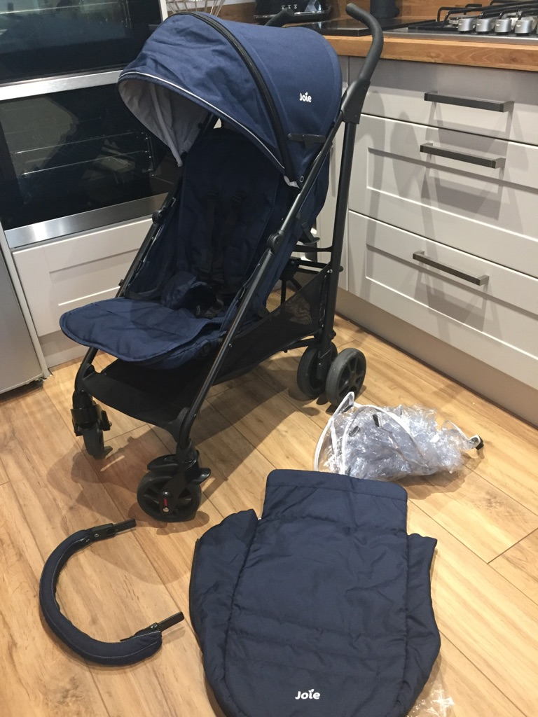 Blue Joie Pushchair with Footmuff & Raincover